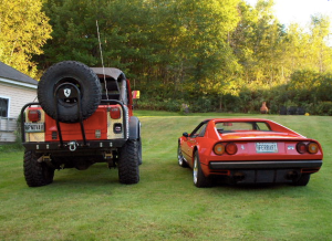 Ferrari and Jeep