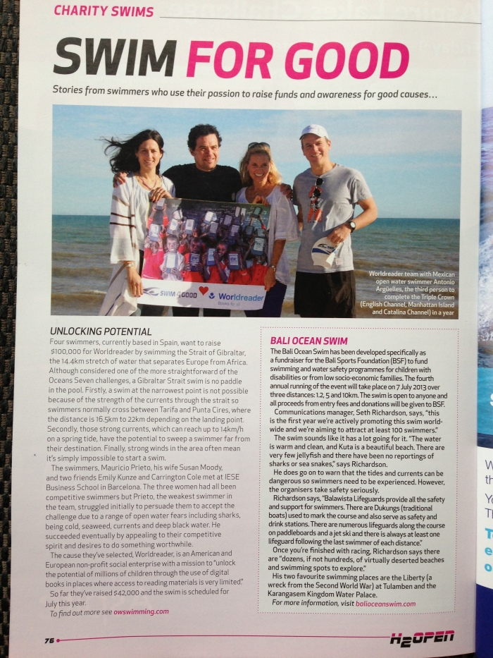 Swim4Good in H2Open Magazine