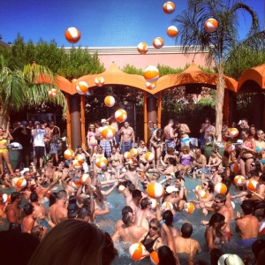 party pool at Tao vegas