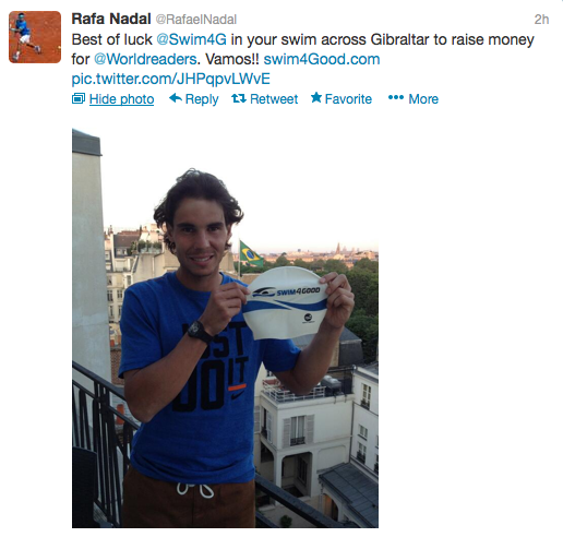 Rafa Nadal Swim4Good