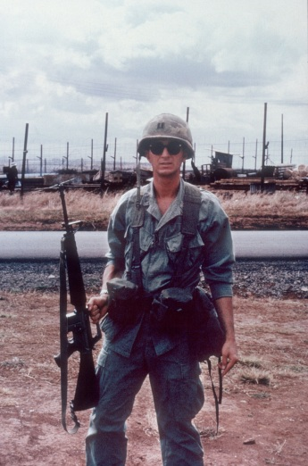 My Dad, Dixon Moody, pictured in Vietnam in 1969 home after serving a year there.  He returned home weighing less than 130 pounds.