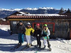 My daughters went skiiing with their oldest friends from Barcelona.  The timing was perfect as it coincided with another week of their mom in the hospital.